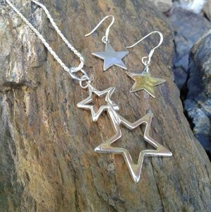 Jewelry - Sterling Silver STAR necklace SET